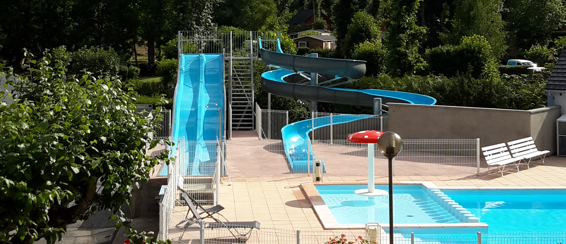 Exceptional Camping In Auvergne With Indoor And Heated Swimming Pool. Campsite Aquatic  Area